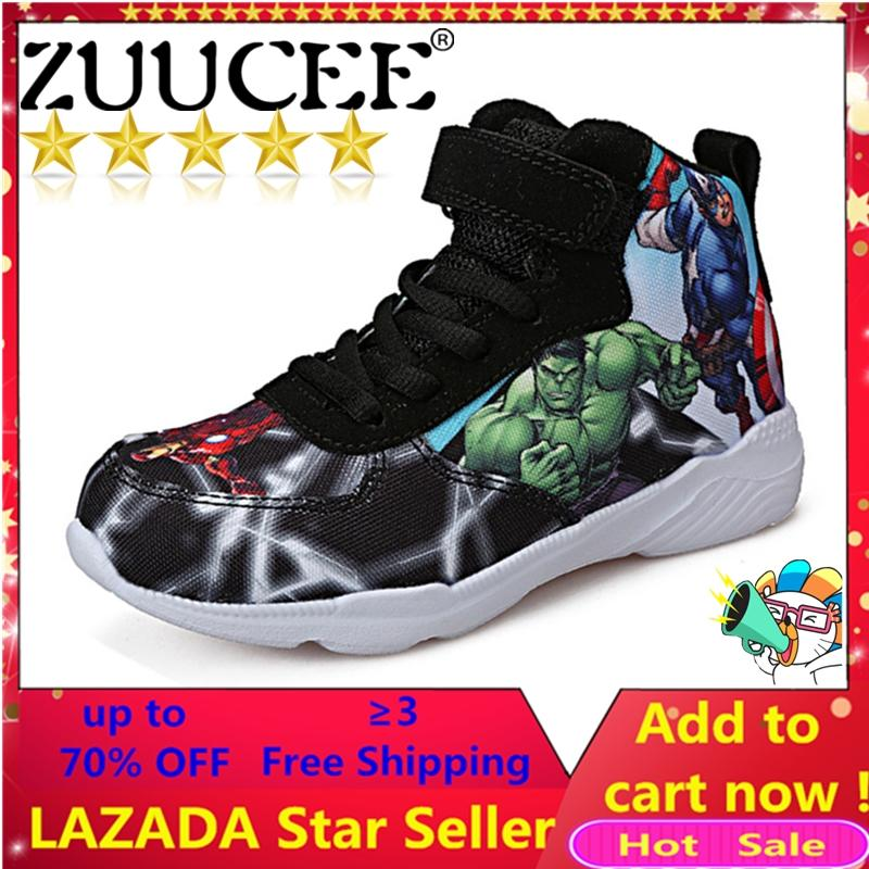 fcfb7f9ba07 ZUUCEE Boys High-top Fashion The Avengers Shos Children Shoes(black) - intl