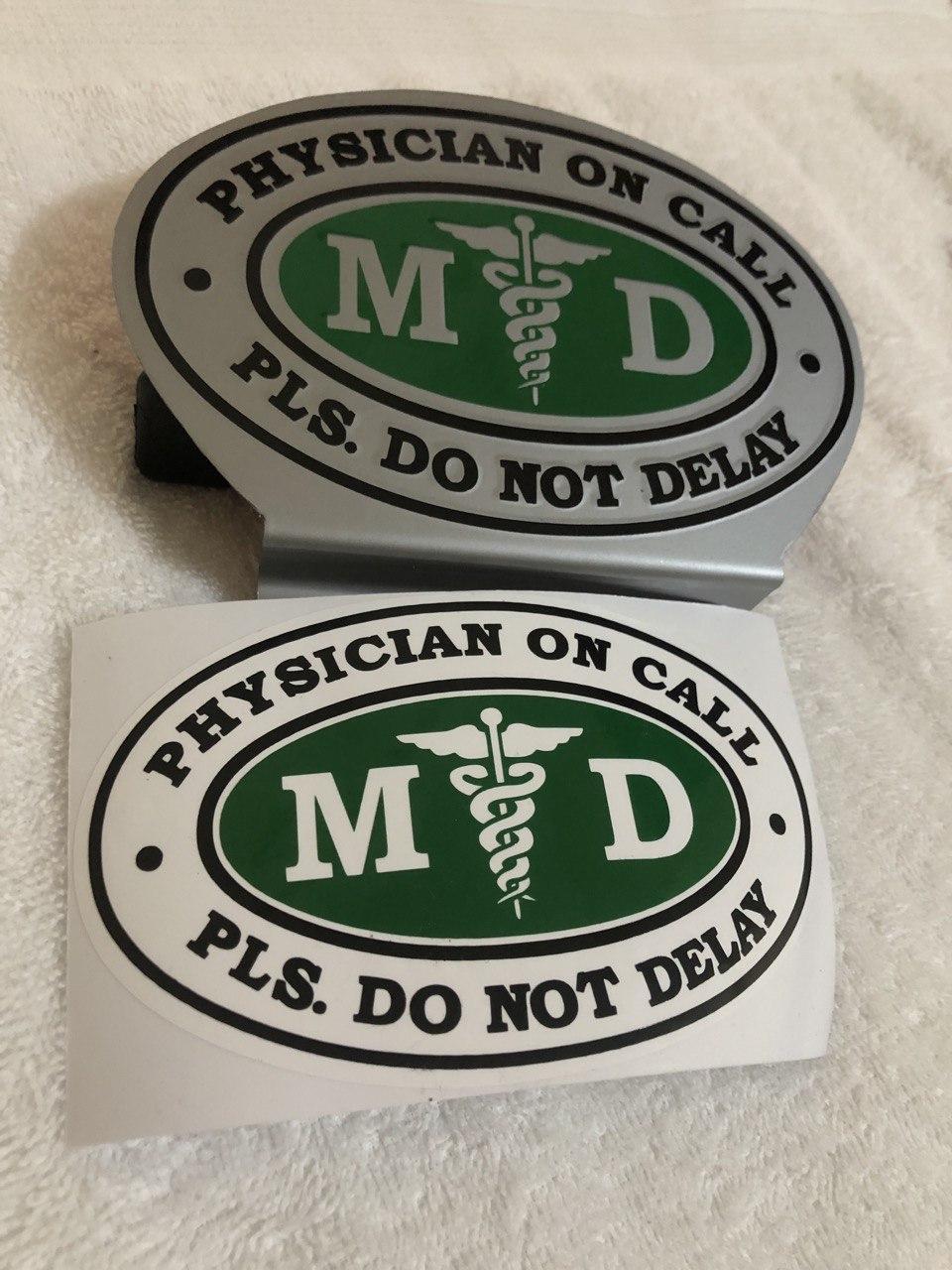 CAR GRILLE EMBLEM BADGES MEDICAL DOCTOR MD