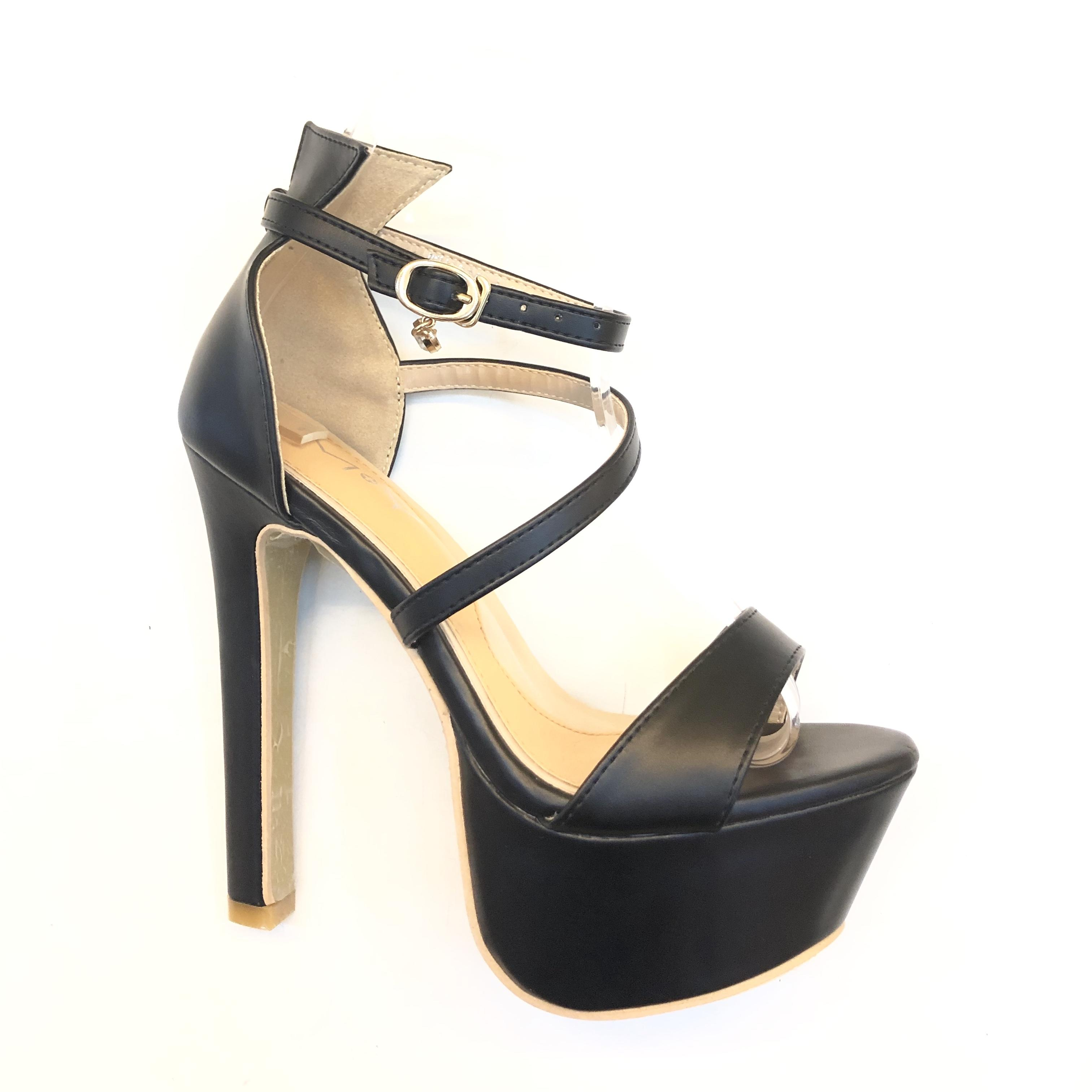 DS Korean Design Summer Women Fashion Platform Stiletto Ankle Crisscross  Strap Buckle Snap Dress Party wedding 177c6c0f3a85