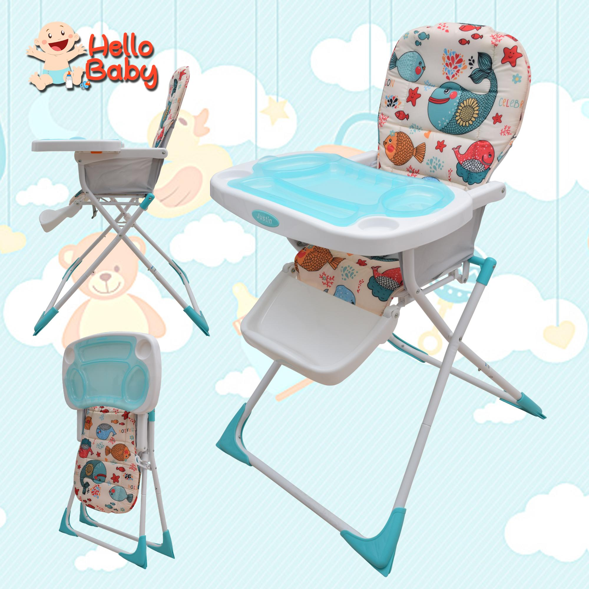 Hello Baby JUSTIN Baby High Chair Baby Feeding Chair Booster