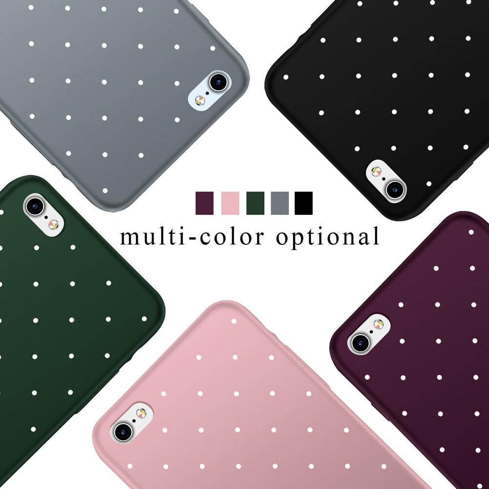 Rubber Matted Dotted Iphone 5 5s 6 6s 7 8 X Plus Soft Case By Aimidawooo.