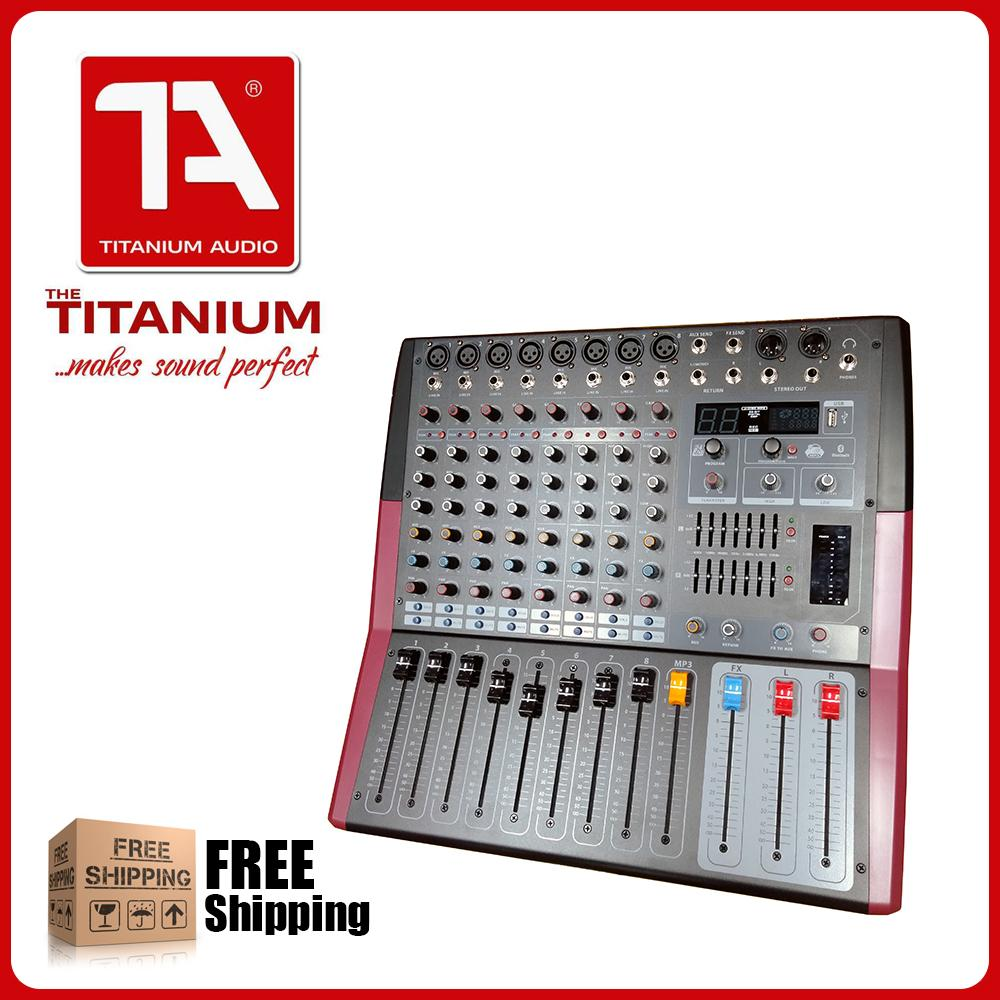 Titanium Audio Powered Mixer RCF8P 8 Channel Professional Mixing Console  with Bluetooth