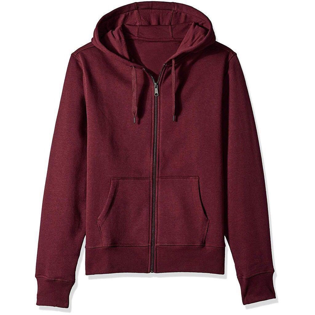 4fbe480e Unisex Plain Jacket w/ Zipper Hoodie for Men Women