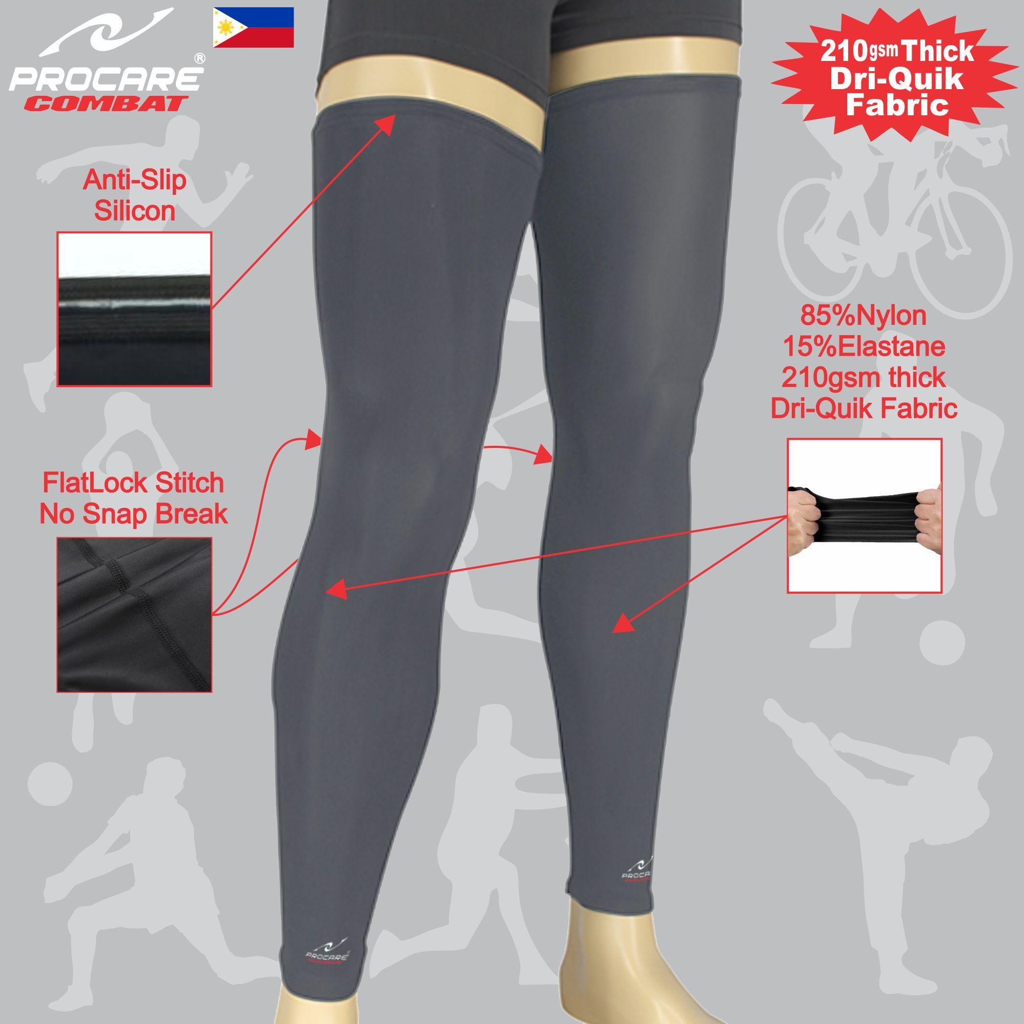 2a91352bee PROCARE COMBAT #5298 Compression Full Leg Sleeves, Dri-Quik Fabric Unisex  Pair (