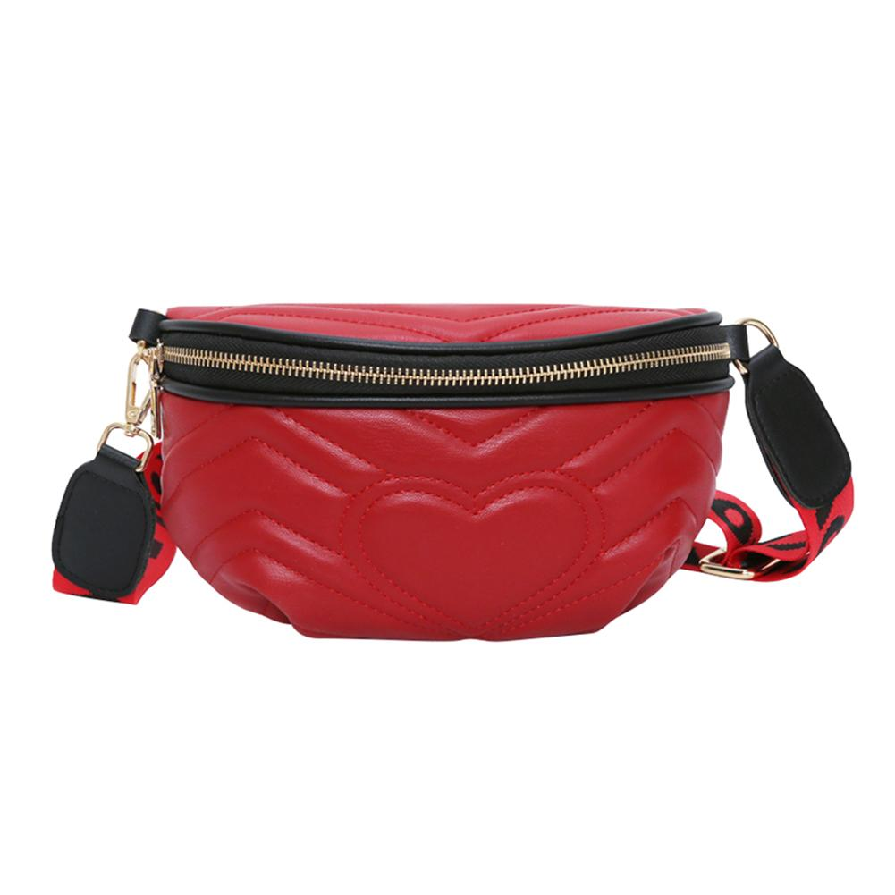 Anything4you Waist Pack Women Wave Pattern Leather Fanny Packs Chest Bag Money Belt Bags