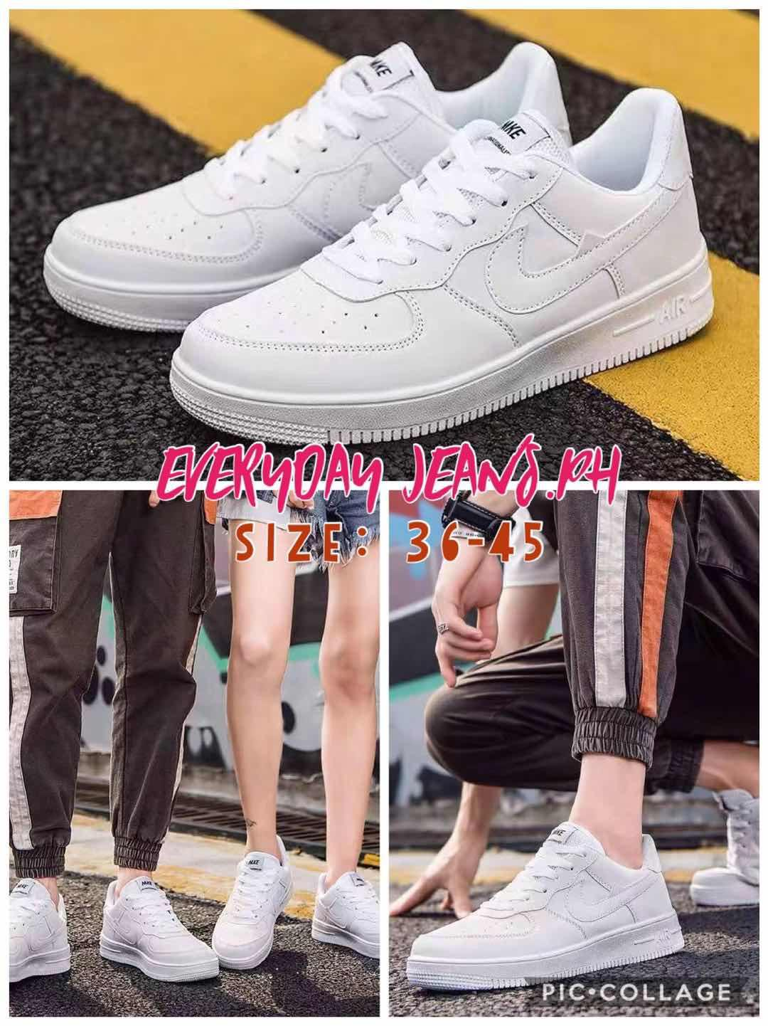 la meilleure attitude 32990 240fe EVERDAY# UNISEX AIR FORCE ONE ALL WHITE SNEAKERS (HOT SALES) SIZES:36-45