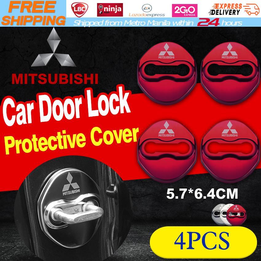 4pcs/set Mitsubishi Anti Rust Car Door Lock Protective Buckle Cover For Mitsubishi Adventure Mirage