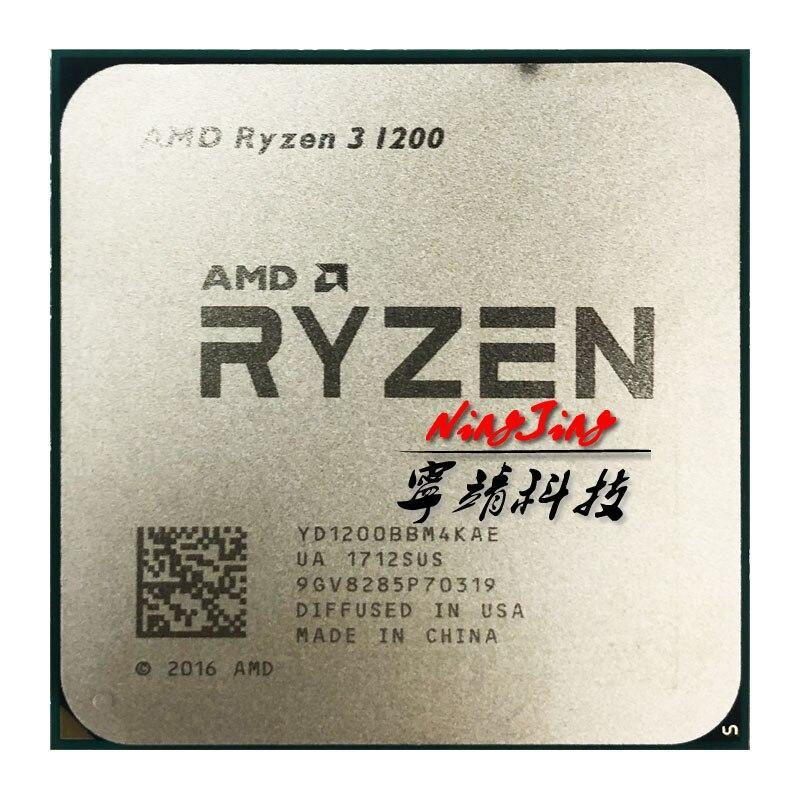AMD Ryzen 3 1200 R3 1200 3.1 GHz Quad-Core Quad-Thread CPU Processor YD1200BBM4KAE Socket AM4 YKQ Store