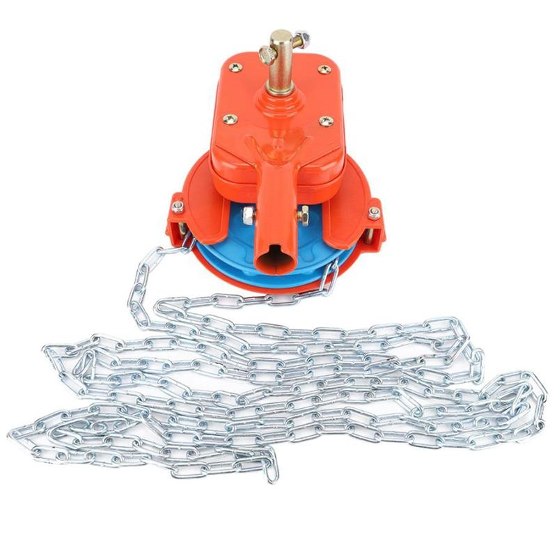 Manual Film Coiler Device Agricultural Greenhouse Side Top Film Coiling Rolling Blinds Machine Extended Chain Plant Keeping Warm