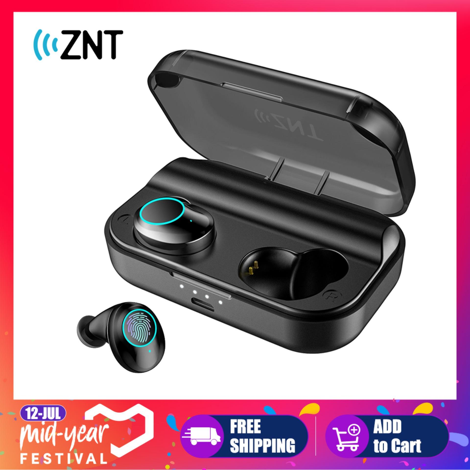 5f75c555daf ZNT SoundBass Bluetooth 5.0 True Wireless Earbuds Touch Control bluetooth  Earphones with IPX7 WaterProof and 3000