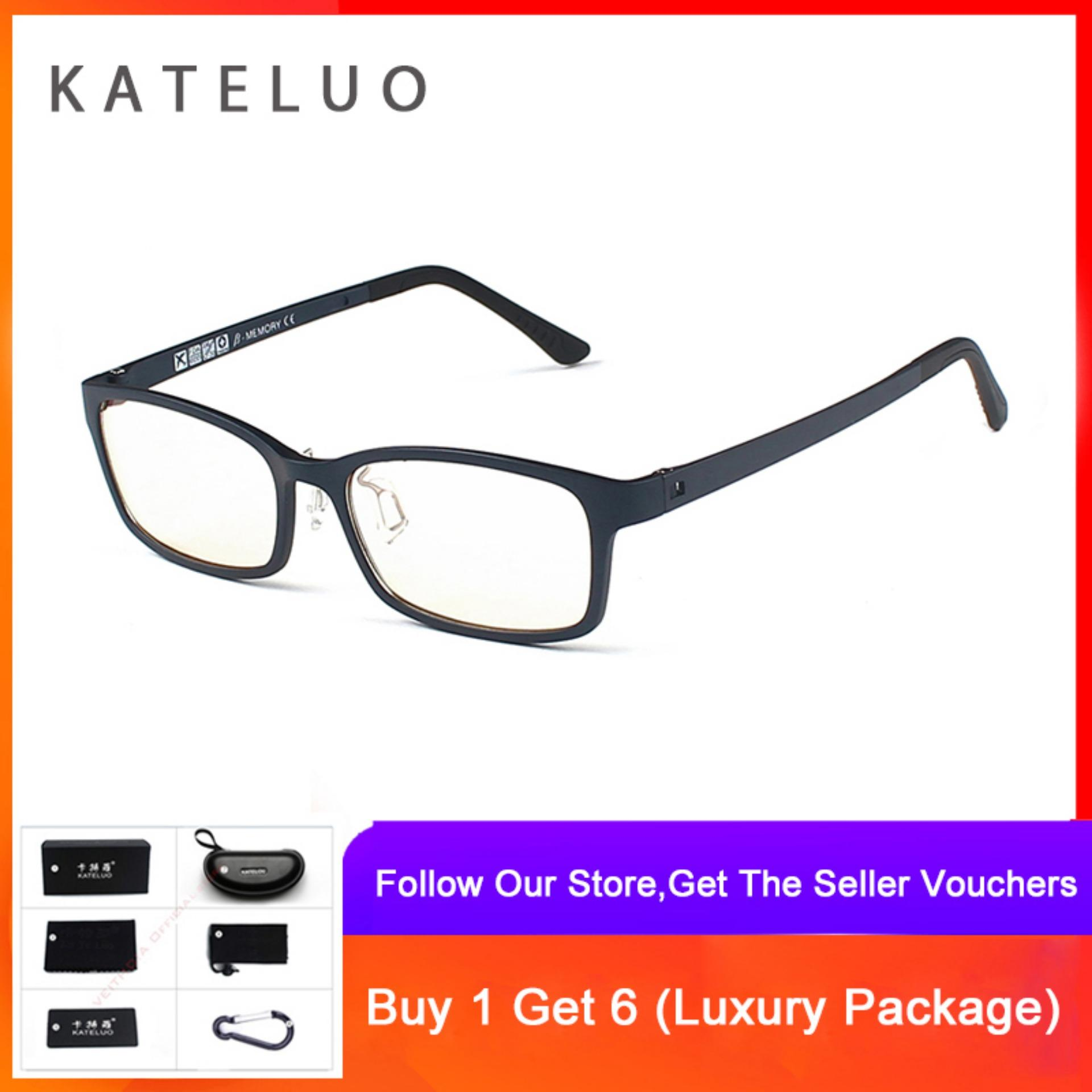 1ce4fb24c22a KATELUO Computer Goggle Anti Blue Laser Fatigue Radiation-resistant Reading Glasses  Frame Eyeglasses 1310