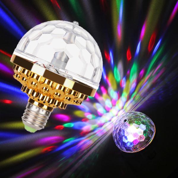 Bảng giá Nhà Đầy Màu Sắc Lãng Mạn Disco Ma Thuật Pha Lê Bóng Đèn Sân Khấu Ánh Sáng RGB Xoay LED Đảng Bulb
