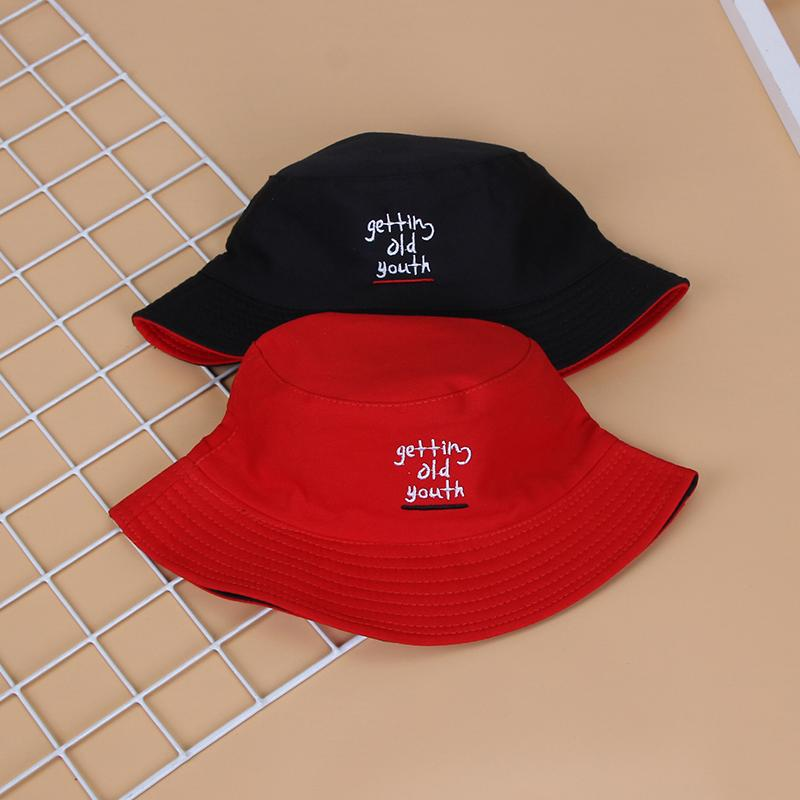 ada9286e3b Bucket Hat Female Summer Tide Korean Style Literature And Art Double-Sided  Wear Japanese-