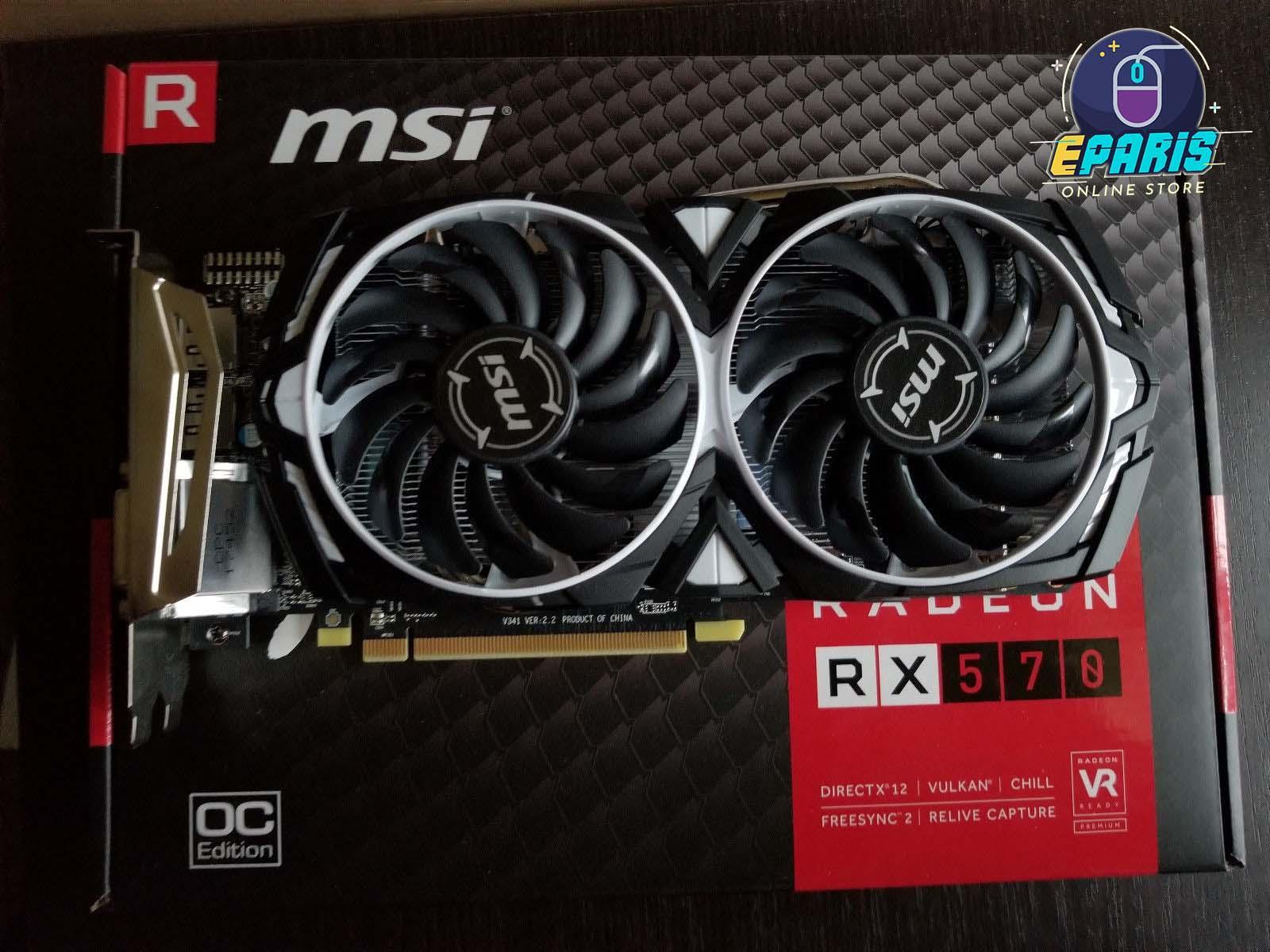 Overclocked Edition MSI Armor Radeon™ RX 570 4GB GDDR5