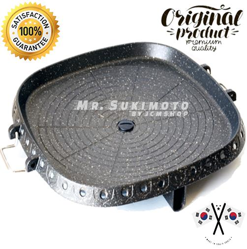 AUTHENTIC Hanaro™ Square Korean Samgyeopsal Samgyupsal Stove Top Grill Pan  Barbecue BBQ