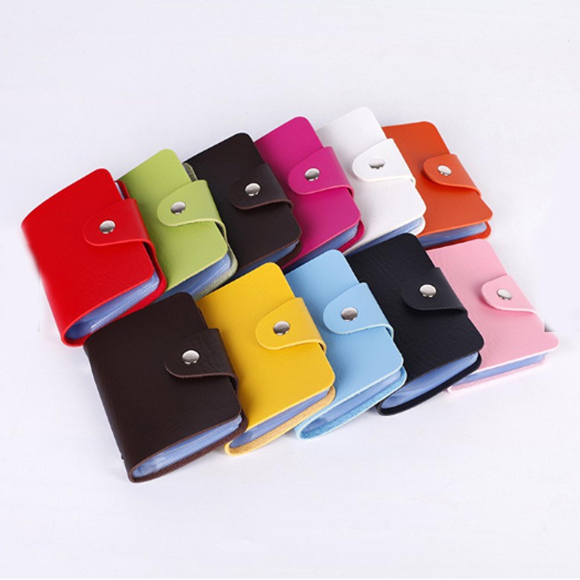 a730d96af0c2 CWL Pu Leather Pocket Business ID Credit Card Holder for Men and Women