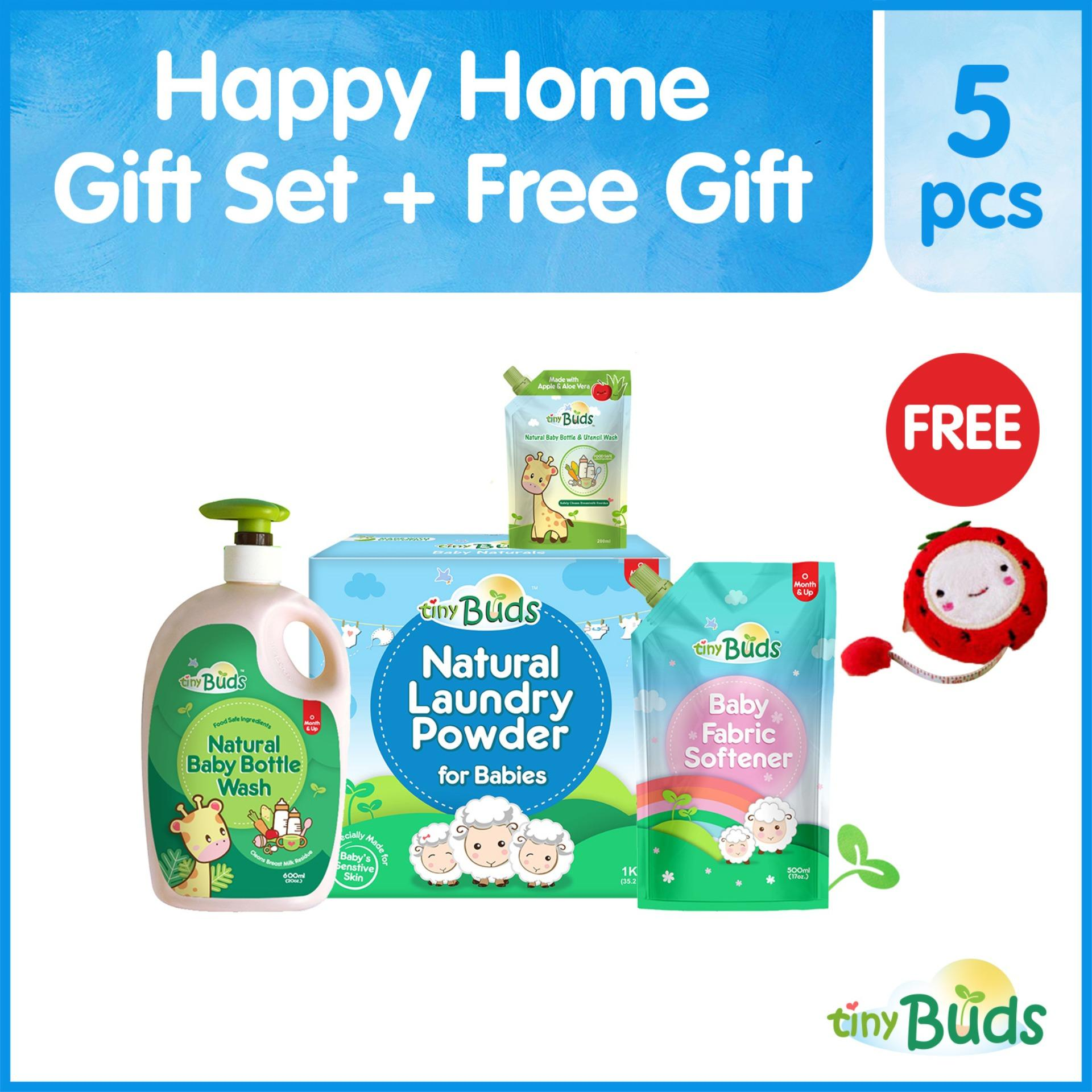 Tiny Buds Happy Home Gift Set By Tiny Buds Baby Naturals.