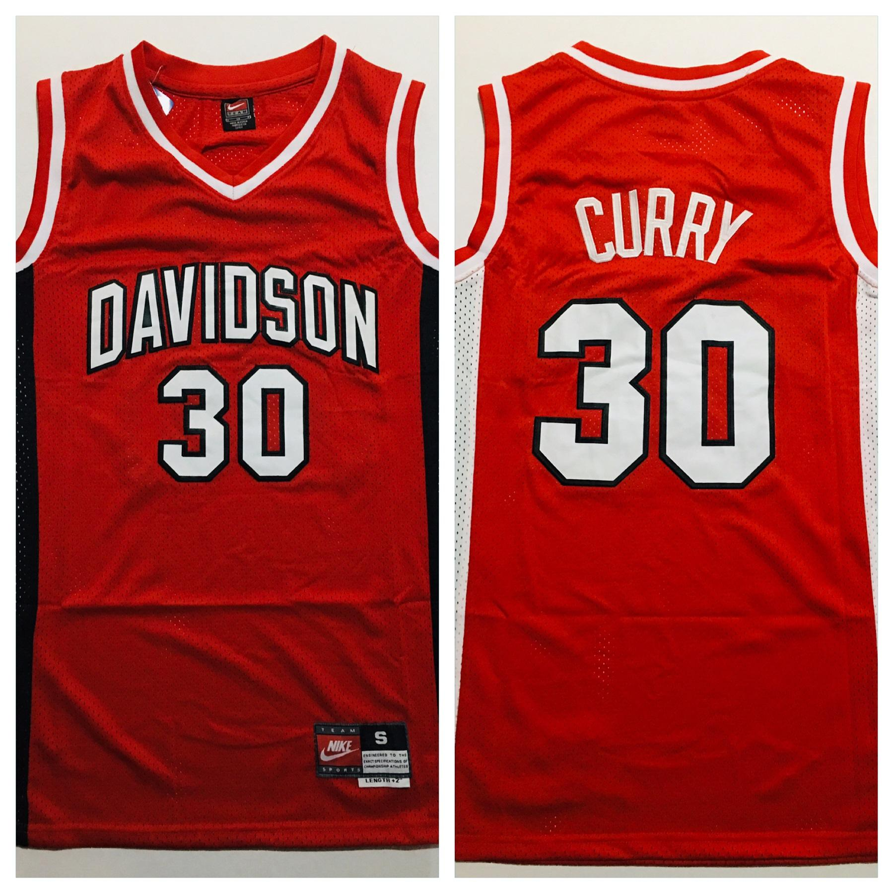 new products b0624 fc049 Stephen Curry Davidson Jersey