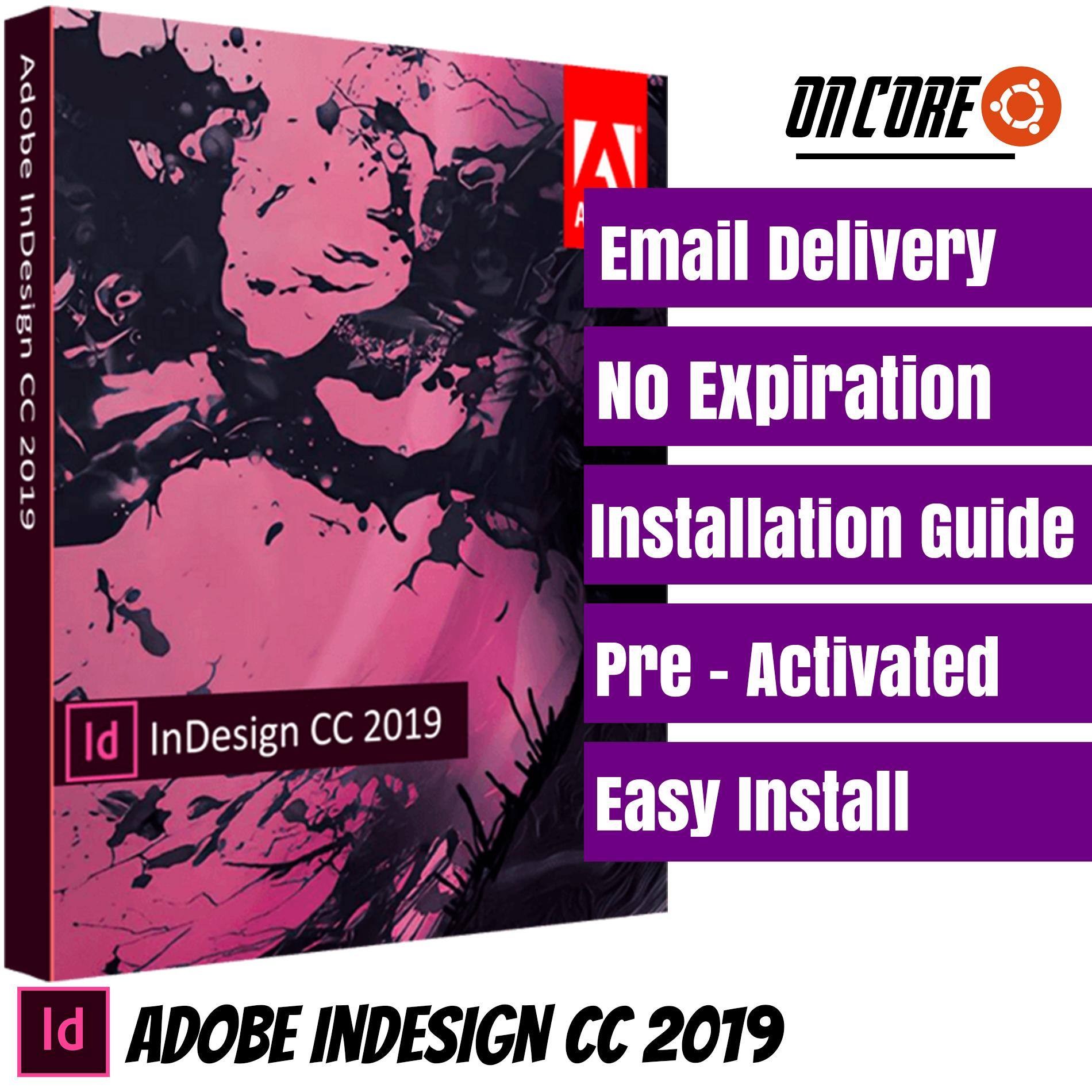 Adobe InDesign CC 2019 (32bit/64bit Windows) Lifetime Activated / Pre  Activated / No Expiration