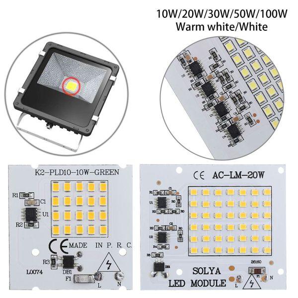 A5TG 1Pc Mới Đầu vào 220V 10W 20W 30W 50W 100W Năng lượng cao Đèn điều khiển Hạt chip LED IC thông minh SMD2835