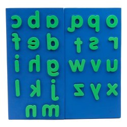 Lakeshore Lowercase  Alphabet Giant Stampers (Blue/Green)