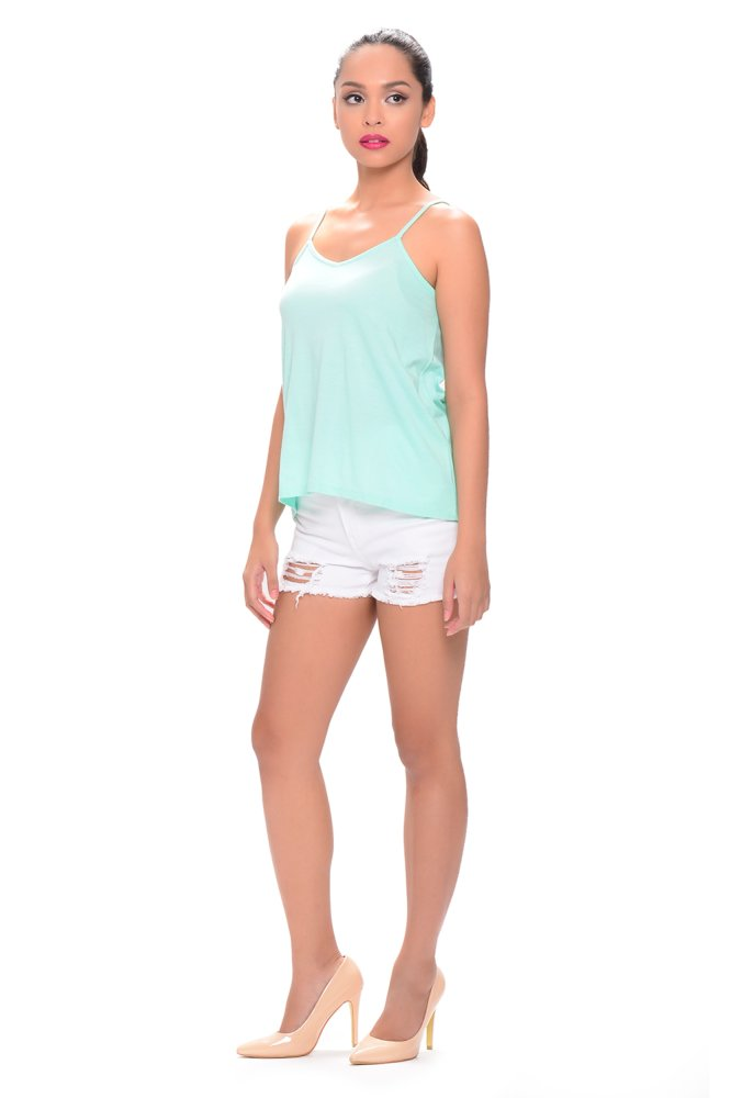 NEXT 91-936 V-Neck Tank Top (Mint Green) - thumbnail