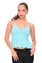 NEXT  91-925 Baby Doll Crop Top (Mint Green)