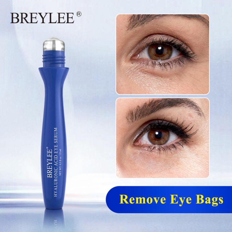 BREYLEE Serum Mát Xa Mắt Kem Mắt Axit Hyaluronic Dưỡng Ẩm Cấp Nước Cải Thiện Bọng Mắt Chăm Sóc Da Mắt Chống Lão Hóa Dụng Cụ Làm Đẹp Làm Sáng 15Ml giá rẻ