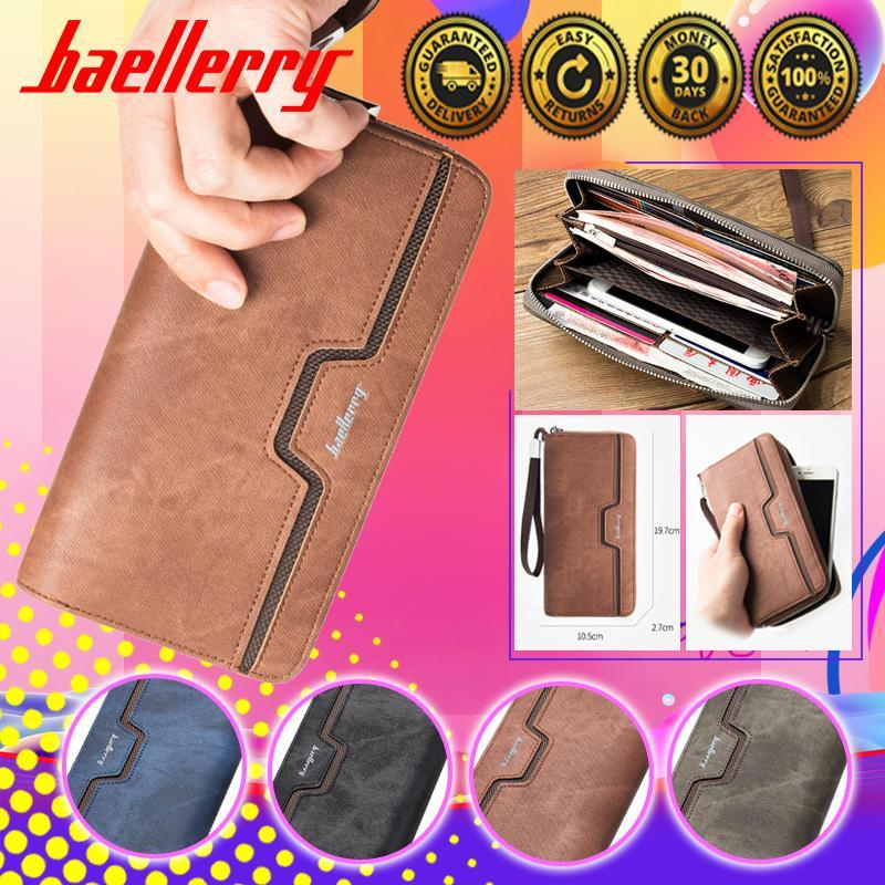 Baellerry Fashion Men PU Leather Organizer Long Wallet Money Coin Purse Pocket Pochette Clutch Hand Bag