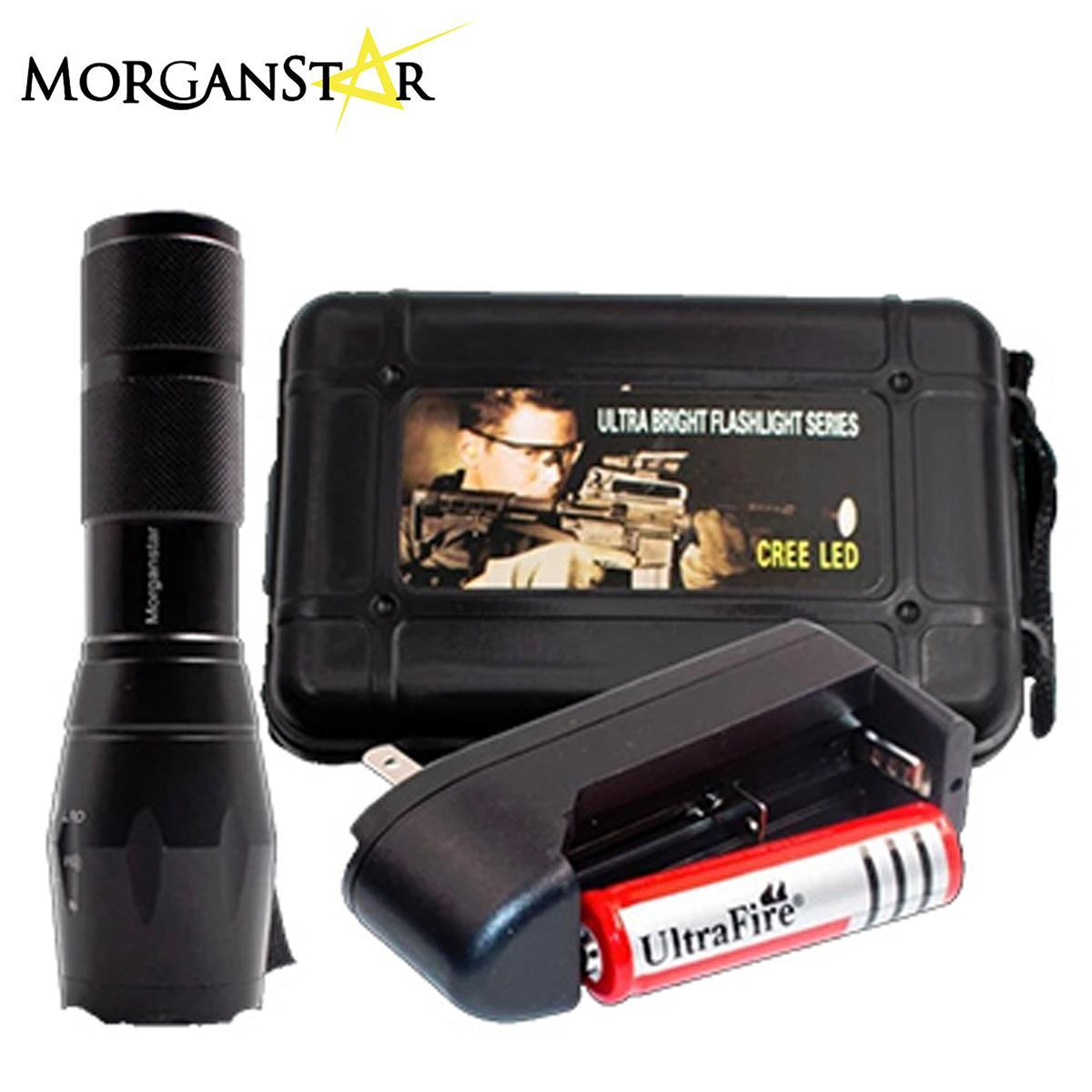 Morganstar Ultra Bright Cree Xml T6 Led 5 Mode Bright Zoom Flashlight Splashproof Torch By Morganstar Marketing.