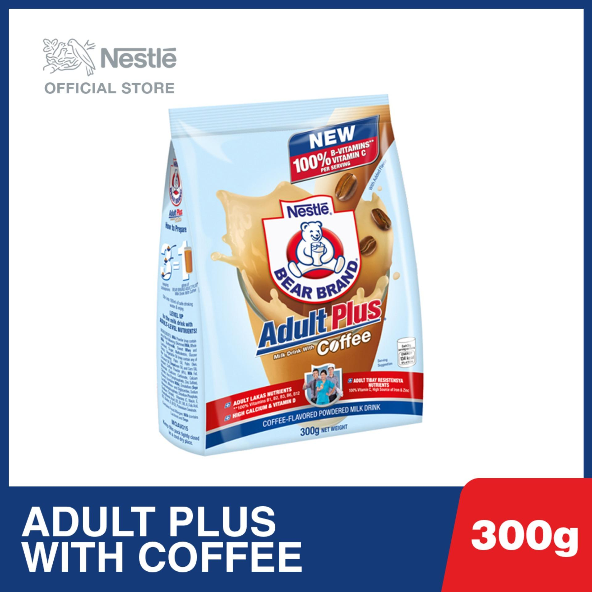 Nestle Bear Brand Adult Plus Powdered Milk Drink with Coffee 300g