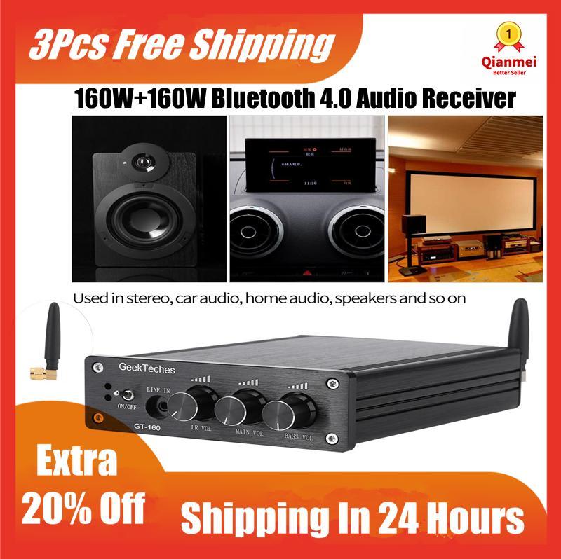 (Gold Certified Qianmei)TDA7498E 160W+160W Dual-channel Bluetooth 4 0  Amplifier Audio Receiver - intl
