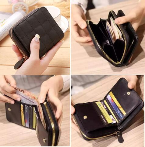54f2e5b14c Korean Short Wallet Leather Wallet Card Holder Woman Wallet Hand Bag Card  Organizer Smart Wallet Fashion