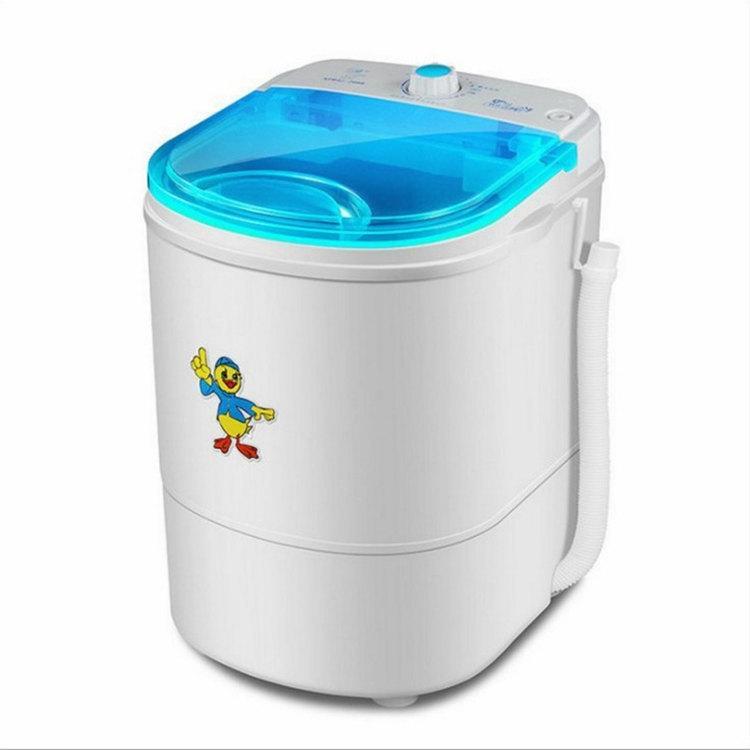 Small single barrel semi-automatic washing machine child Baby mini washing  machine household