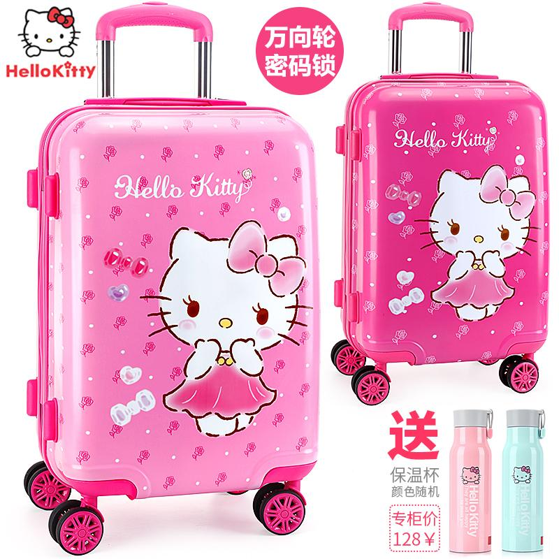 Brand Hello Kitty Cartoon 18 Inch Students Travel Trolley Case Children Boarding Box Anime Girl Luggage Child Rolling Suitcase Cheap Sales 50% Luggage & Travel Bags