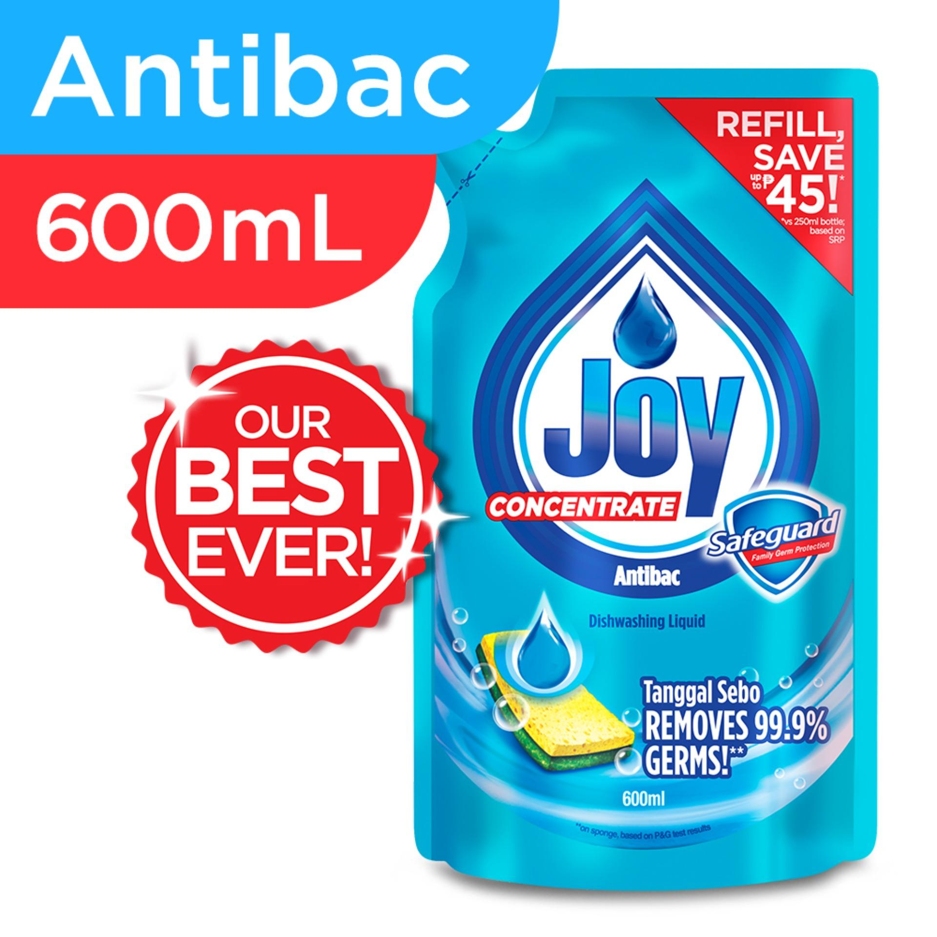 Joy Antibacterial Dishwashing Liquid Concentrate Safeguard 600mL
