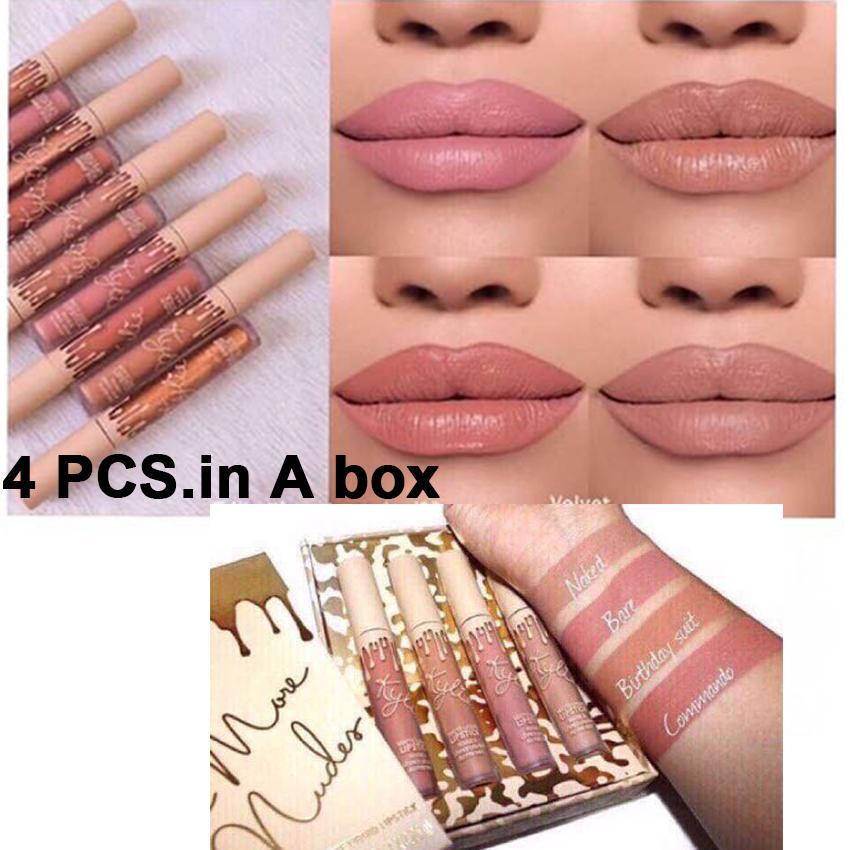 Kylie Brand Waterproof Matte Lipstick Pigment Velvet Matte Liquid Lip gloss Long-Lasting Lip Tint