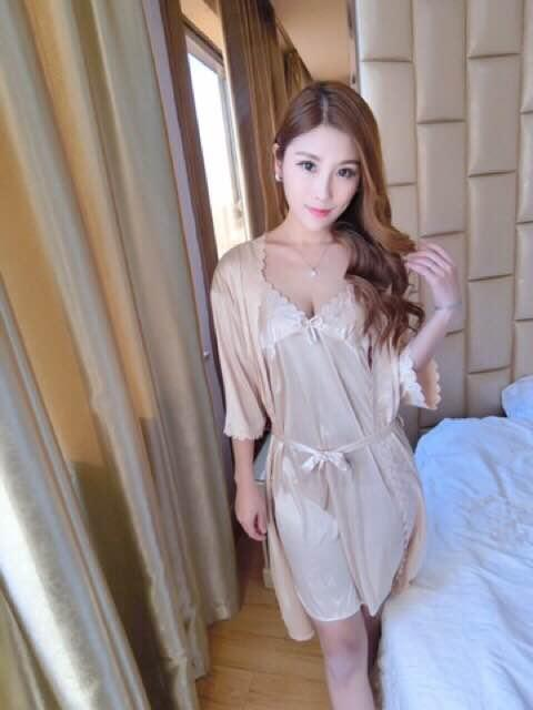 718b921637 Robe women Summer Viscose Loose And Plus-sized Kimono Thin Pajamas Spring  And Autumn Bathrobe