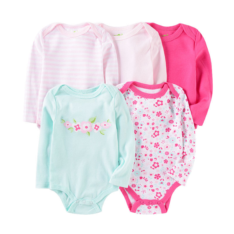 Pack Of 5 CARTERS Baby Girl 3 Months BODYSUITS Short Sleeve One Piece 3M NWT NEW