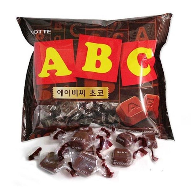 LOTTE ABC monogram milk chocolate dark chocolate 65g | Lazada PH