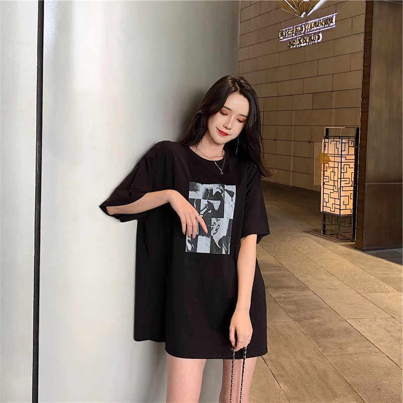 582670d001b78 Vintage New Style Korean Style CHIC Versatile Mid-length Summer Wear Sleeve  T-shirt