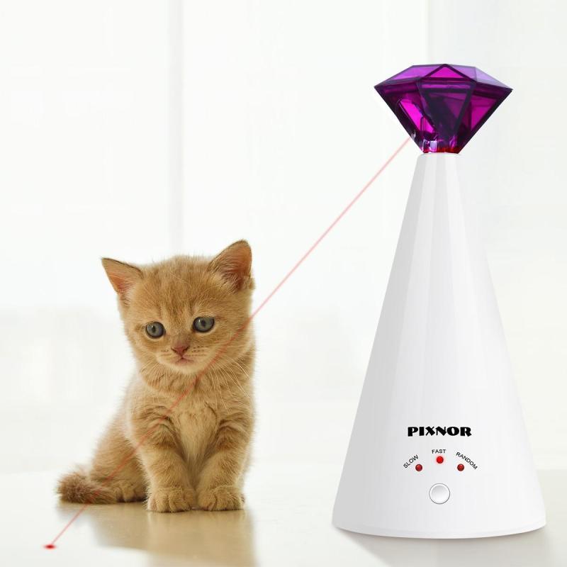 1 Kim Cương PC Đồ Chơi Cho Mèo Laser Xoay Điện Tương Tác Thú Cưng Con Trỏ La-ze Đồ Dùng Đào Tạo Đồ Chơi Cho Thú Cưng Cho Mèo Mèo Con Thú Cưng