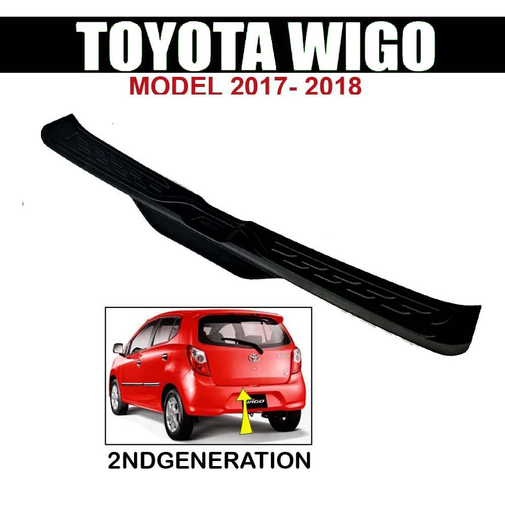 Rear Bumper Guard (Version-2) for Toyota Wigo 2018-2019 (All Black) (other  wigo accessories: rain guard visor, headlight and taillight, door handle