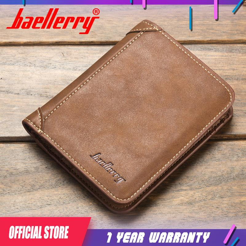 a7635a8cbc2431 Baellerry High Quality Wallet Men Leather Wallets Vintage Male Wallet Three  Hold Purse For Men Short