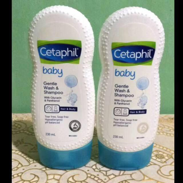 Baby Gentle Wash & Shampoo 230ml By Adizaishop.