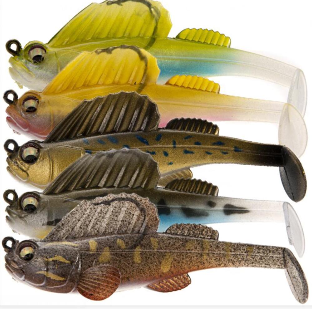 Crank sea fly fishing worm Soft bass Bait with Lead hook Minnow Lure SwimBait