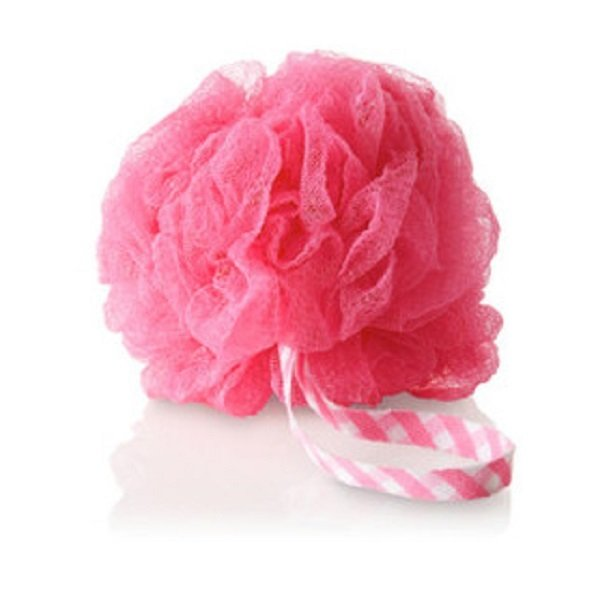 Bath and Body Works Gauze Big Exfoliating Sponge Shower (Pink)