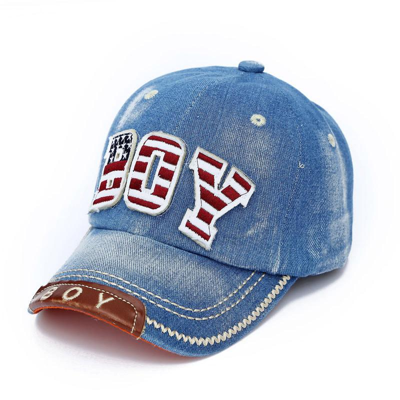 530b0dbba02 Summer Kids Boys Girls Baseball Cap New Fashion Letter Boy Jean Denim Caps  Sun Hat -