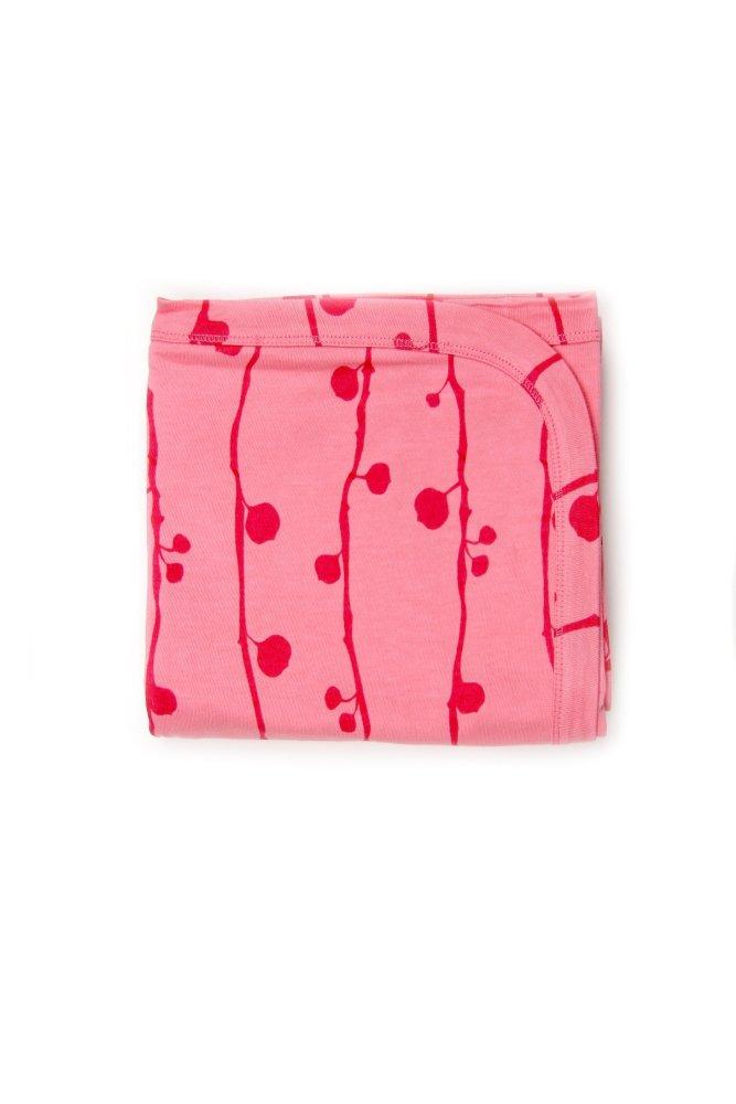 Kate Quinn Organics Receiving Blanket -Berry (Pink) - thumbnail