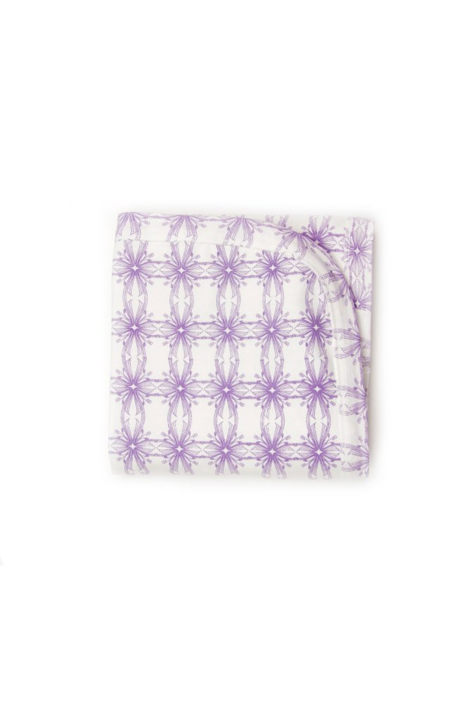 Kate Quinn Organics Receiving Blanket - Nouveau (Purple/White) product preview, discount at cheapest price
